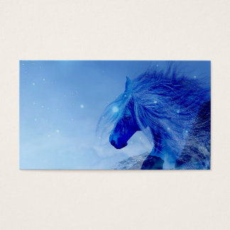 Cartes De Visite Cheval bleu d'imaginaire