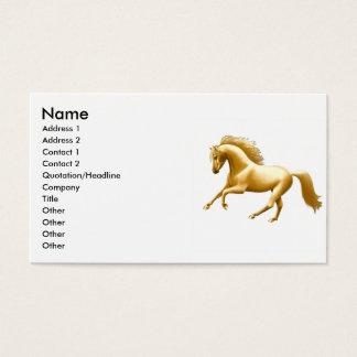 Cartes De Visite Cheval d'or galopant