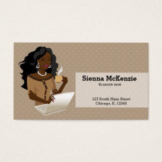 Cartes De Visite Cheveux noirs de femme de carrière