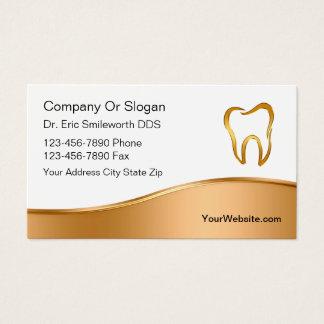 Cartes de visite chics de dentiste