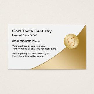 Cartes de visite chics de dentiste carte de visite standard