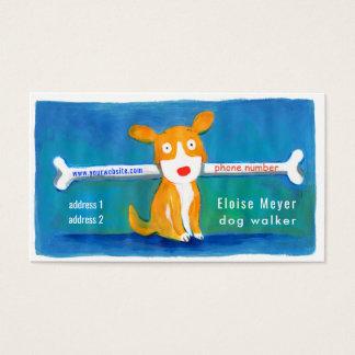 Cartes De Visite chien drôle de marcheur de chien