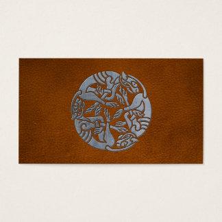 Cartes De Visite Chien en cuir de Celtic de fer