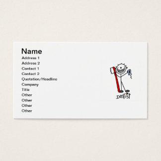 Cartes De Visite Chiffre de base dentiste de bâton