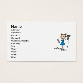 Cartes De Visite Chiffre de bâton de coiffeur