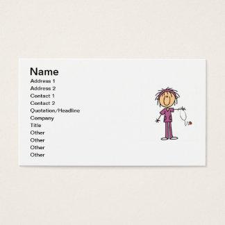 Cartes De Visite Chiffre femelle infirmière de bâton