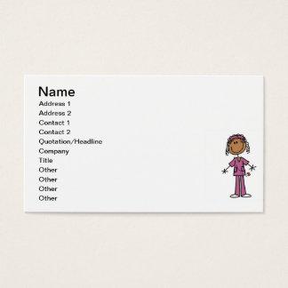 Cartes De Visite Chiffre infirmière de bâton d'Afro-américain
