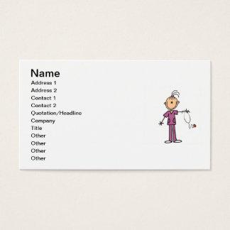 Cartes De Visite Chiffre infirmière de bâton de brune