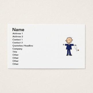 Cartes De Visite Chiffre masculin infirmière - bleu de bâton
