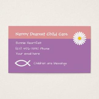 Cartes De Visite Childcare chrétien