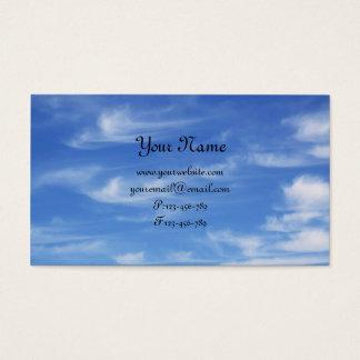 Cartes De Visite Ciel bleu avec des nuages pour l'arrière - plan