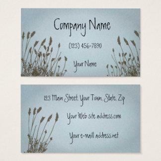 Cartes De Visite Ciel bleu d'herbe graphique élégante
