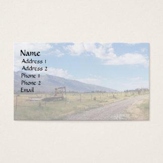 Cartes De Visite Cieux bleus au-dessus de route de ranch