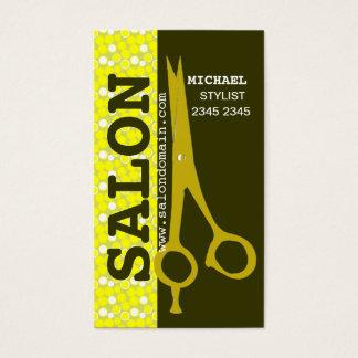 Cartes De Visite Cisaillements professionnels de coiffeur de salon