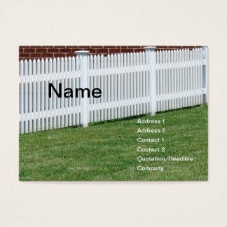 Cartes De Visite clôture blanche
