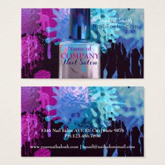 Cartes De Visite Clouez la conception colorée d'éclaboussure de