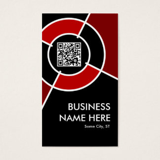 Cartes De Visite code de QR et cible marron de logo