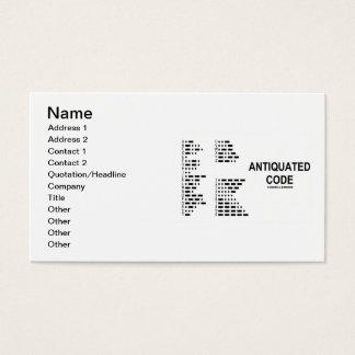 Cartes De Visite Code désuet (code Morse international)