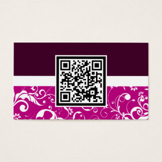 Cartes De Visite code professionnel de la damassé QR