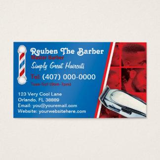 Cartes De Visite Coiffeur de raseur-coiffeur (poteau et tondeuses