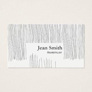 Cartes De Visite Coiffeur/styliste en coiffure mignons de coupe de