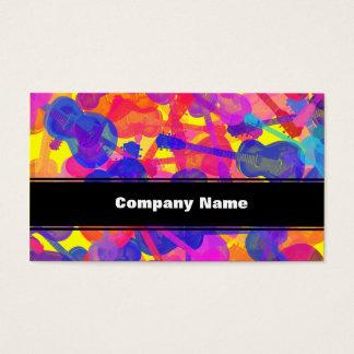 Cartes De Visite Collage coloré de guitare