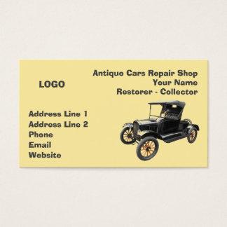 Cartes De Visite Collecteur 2 d'atelier de réparations de voitures