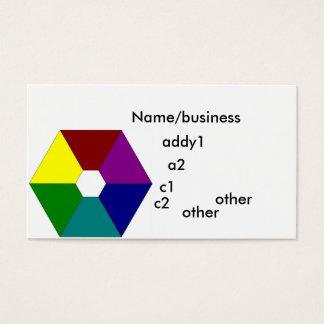 Cartes De Visite color_wheel, nom/affaires, addy1, a2, c1, C2,…