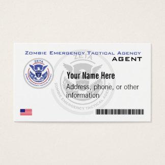 Cartes De Visite Commission d'agence tactique de secours officiel