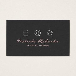 Cartes De Visite Concepteur moderne de bijoux du logo VI de trio de