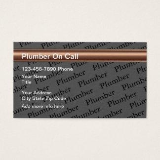 Cartes De Visite Conception de service de plombier