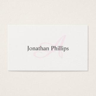 Cartes De Visite Conception Élégante Moderne Minimaliste Blanche