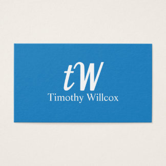 Cartes De Visite Conception Élégante Moderne Minimaliste Bleue
