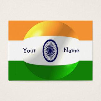 Cartes De Visite Conception indienne de drapeau personnalisée