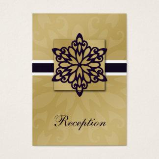 Cartes De Visite conception pourpre de mariage d'hiver de flocons