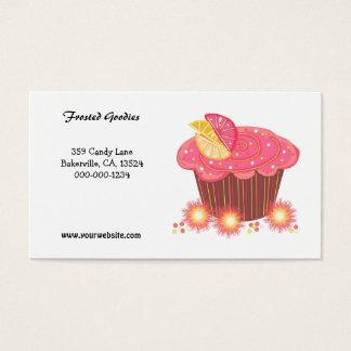 Cartes De Visite Conception rose douce de petit gâteau