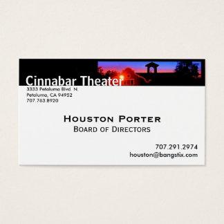 Cartes De Visite Conseil d'administration de théâtre de cinabre