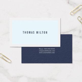 Cartes De Visite Conseiller blanc bleu minimaliste professionnel