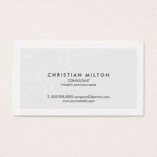 Cartes De Visite Conseiller blanc gris-clair élégant simple minimal