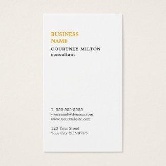 Cartes De Visite Conseiller blanc minimaliste élégant