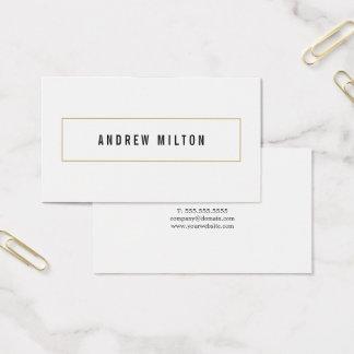 Cartes De Visite Conseiller blanc noir minimaliste professionnel
