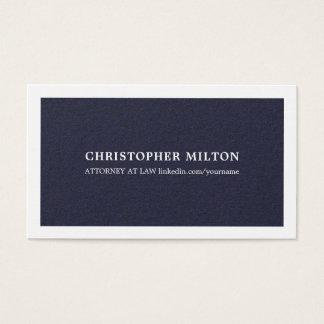 Cartes De Visite Consultant en matière élégant minimaliste de bleu