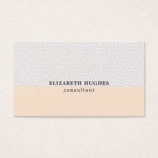 Cartes De Visite Consultant en matière en pastel propre élégant