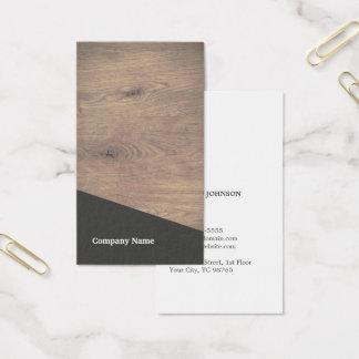 Cartes De Visite Consultant en matière gris en bois élégant moderne