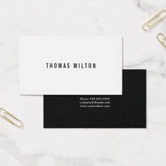 Cartes De Visite Consultant en matière noir minimal professionnel