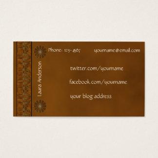 Cartes De Visite Contact personnel - couleur riche d'automne