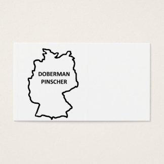 Cartes De Visite contour d'origine de pinscher de dobermann