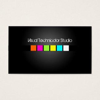 Cartes De Visite Cool/carrés fluorescents élégants