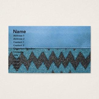 Cartes De Visite Copie en cuir bleue Girly de scintillement de