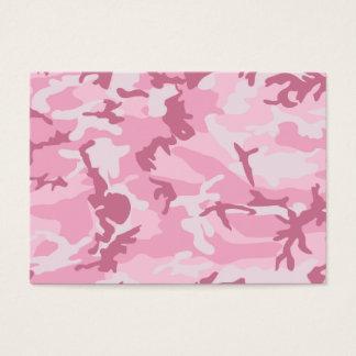 Cartes De Visite Copie rose mignonne de camouflage